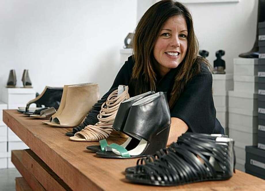Shoe designer Martha Davis is seen at her studio in San Francisco, Calif., on Tuesday, Nov. 10, 2009. Photo: Paul Chinn, The Chronicle
