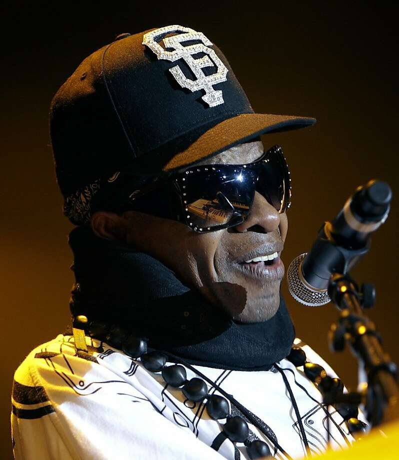 FILE - In this July 14, 2007 file photo, funk music pioneer Sly Stone from the group Sly and the Family Stone performs on stage during the 41st Montreux Jazz Festival at the Stravinski hall in Montreux, Switzerland. Photo: Martial Trezzini, AP