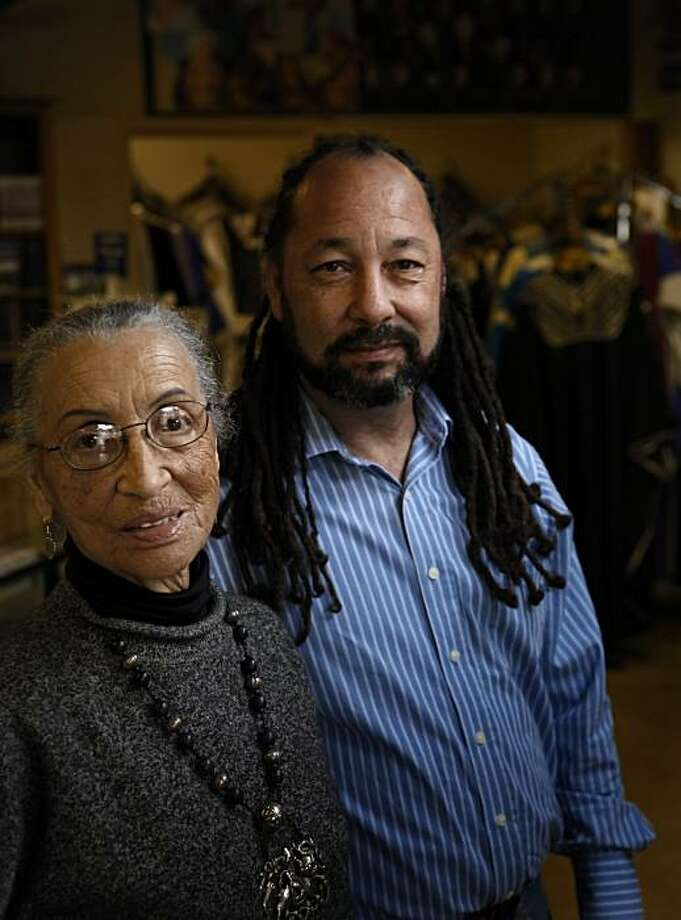 Founder of Reid's Records, Betty Reid Soskin and her son, the store's manager, David Reid. Story about the Berkeley, Calif., store, which is having a 65th anniversary concert. It is one of the oldest African American owned and operated businesses in the Bay Area. Photo: Carlos Avila Gonzalez, The Chronicle