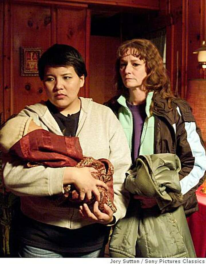 """Misty Upham (left) as Lila and  Melissa Leo as Ray in """"Frozen River, a 2007 Sony Pictures Classics film. Photo: Jory Sutton, Sony Pictures Classics"""