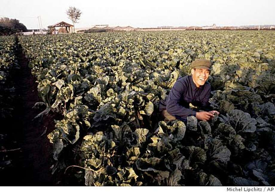 Chinese worker in field smiling in Beijing, the Capital of China, 1980. (AP Photo/Michel Lipchitz).(AP Photo) Photo: Michel Lipchitz, AP