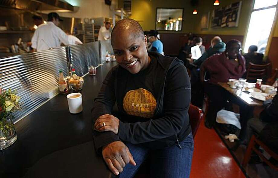 Tanya Holland is seen at her restaurant Brown Sugar on Mandela Parkway in Oakland, Calif., on Thursday, Jan. 21, 2010. Holland, who opened the popular French-Creole style eatery two years ago, plans to open a second location in Jack London Square later this year. Photo: Paul Chinn, The Chronicle