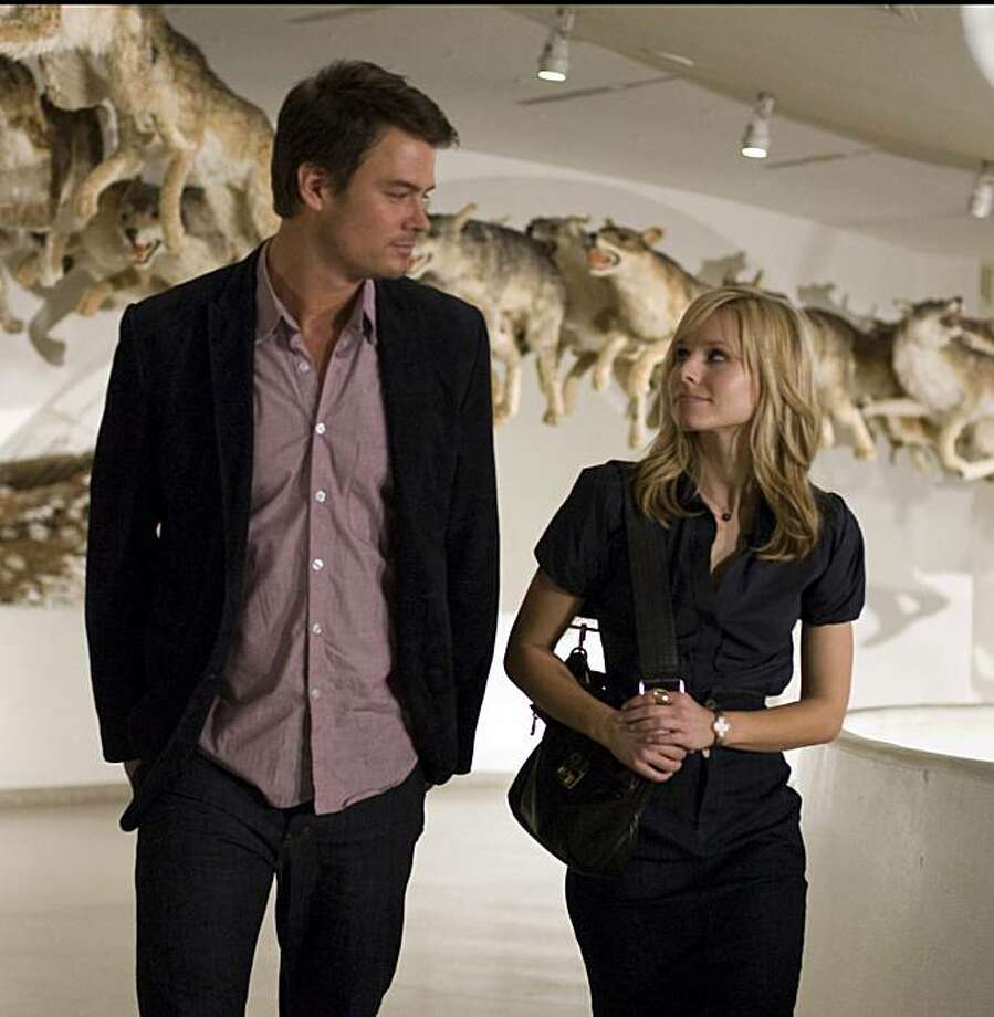 "In this image released by Disney, Josh Duhamel, left, and Kristen Bell are shown in a scene from, ""When in Rome."" Photo: Myles Aronowitz, AP"