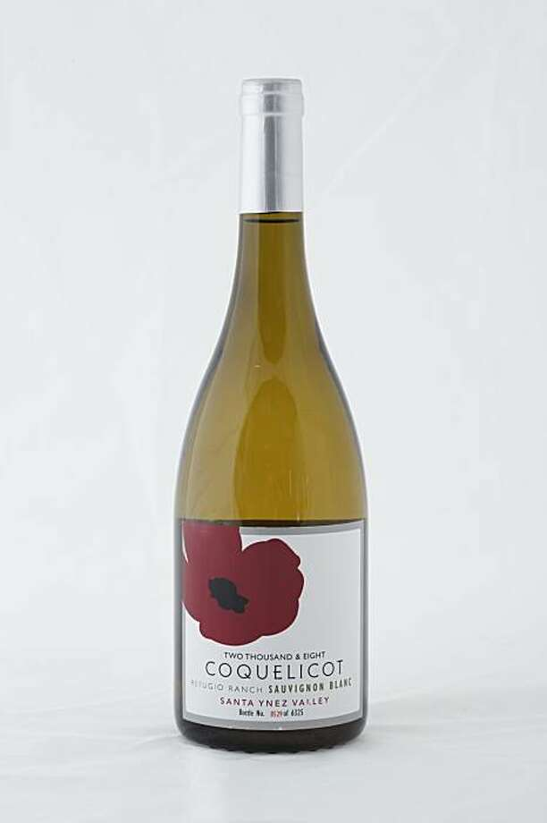 2008 Coquelicot Refugio Ranch Sauvignon Blanc Santa Ynez Valley in San Francisco, Calif., on January 20, 2010. Photo: Craig Lee, Special To The Chronicle