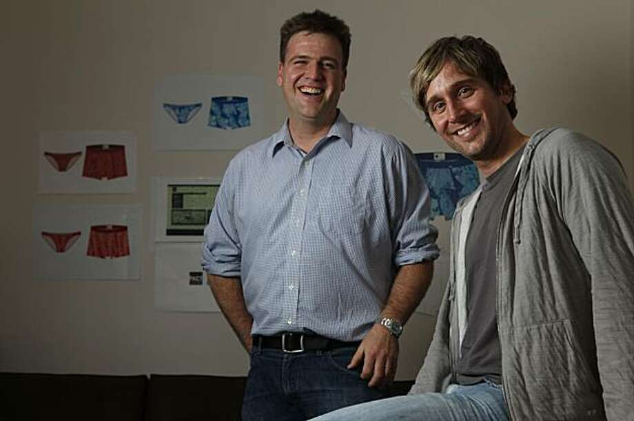 Jason Kibbey and Jeff Denby, two 32-year olds who met at the Haas School of Business in Berkeley have recently launched PACT, a luxury underwear company that funds environmental causes.Tuesday Jan. 12, 2010 Photo: Lance Iversen, The Chronicle