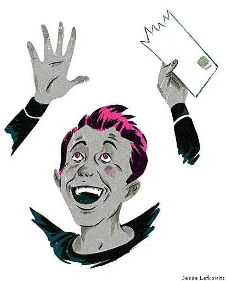 "Illustration for 8/3/2008 issue of Chronicle Magazine story, ""Primed to Apply"", a guide on the college application process. Story by Risa Nye, illustrations by Jesse Lefkowitz. Photo: Jesse Lefkowitz"