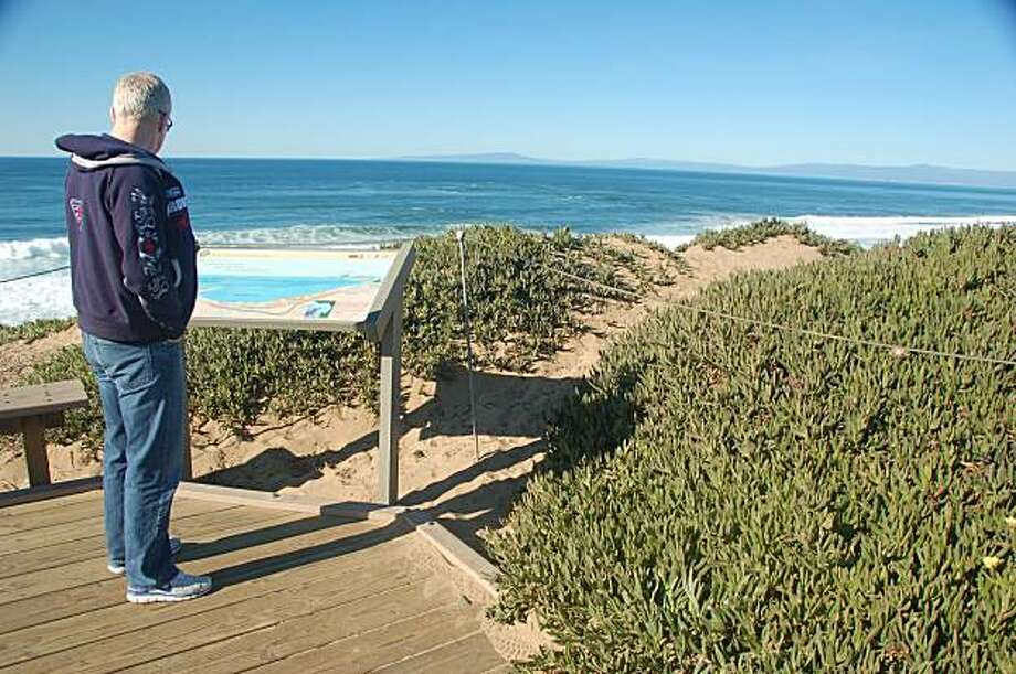 Interpretive signs at Ford Ord Dunes State Park explain the military and natural history of the Monterey Bay Photo: Jeanne Cooper