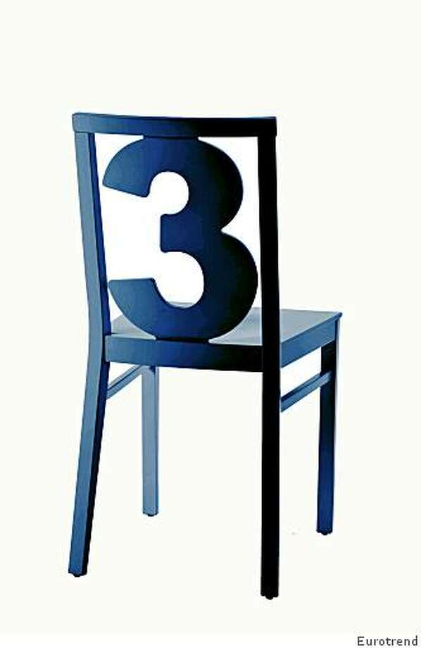 The Numbers collection by Billiani for Eurotrend, made of beech, 190 available lacquer colors -- numbers 0 through 9; retail $545. Photo: Eurotrend