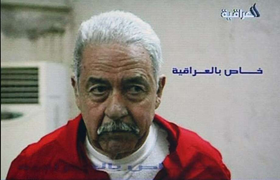 "In this image from the Iraq TV station Al Iraqiyah TV,  showing Saddam Hussein's cousin Ali Hassan al-Majid, known as Chemical Ali, at an undisclosed location and thought to be shortly before he was hanged in Iraq Monday Jan. 25, 2010.  It is announced Monday that Al-Majid was executed after he received his fourth death sentence for the Halabja poison gas attack in 1988 that killed some 5,000 people and earned him the chilling moniker ""Chemical Ali"". Photo: AP"