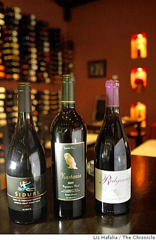 Some bottles of wine at La Dolce Vita,  a wine bar and shop located in Petaluma's Theater District in Petaluma, Calif. Photo: Liz Hafalia, The Chronicle