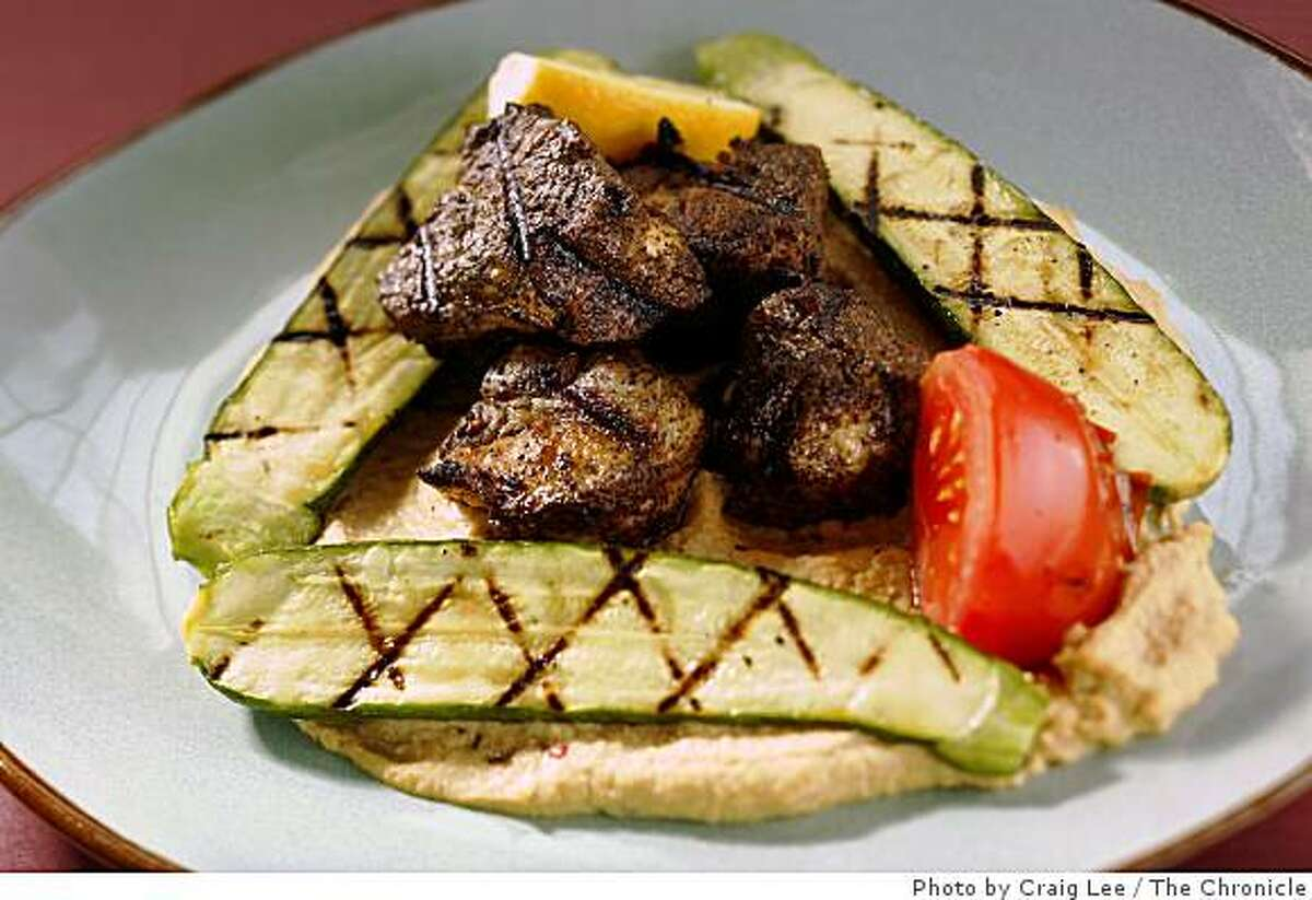 Grilled goat brochettes in San Francisco, Calif. on July 24, 2008. Photo by Craig Lee / The Chronicle