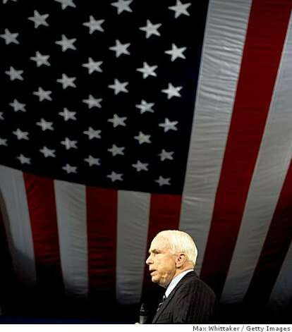 SPARKS, NV - JULY 29:  Republican presidential candidate U.S. Sen. John McCain (R-AZ) speaks at a town hall meeting at Reed High School on July 29, 2008 in Sparks, Nevada. With the Republican National Convention nearly a month away McCain still hasn't picked a running mate.  (Photo by Max Whittaker/Getty Images) Photo: Max Whittaker, Getty Images