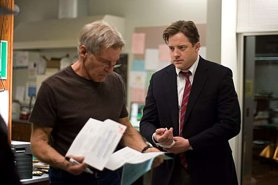Dr. Robert Stonehill-HARRISON FORD and John Crowley-BRENDAN FRASER in Extraordinary Measures. Photo: Merie Wesimiller Wallace, SMPSP, CBS Films