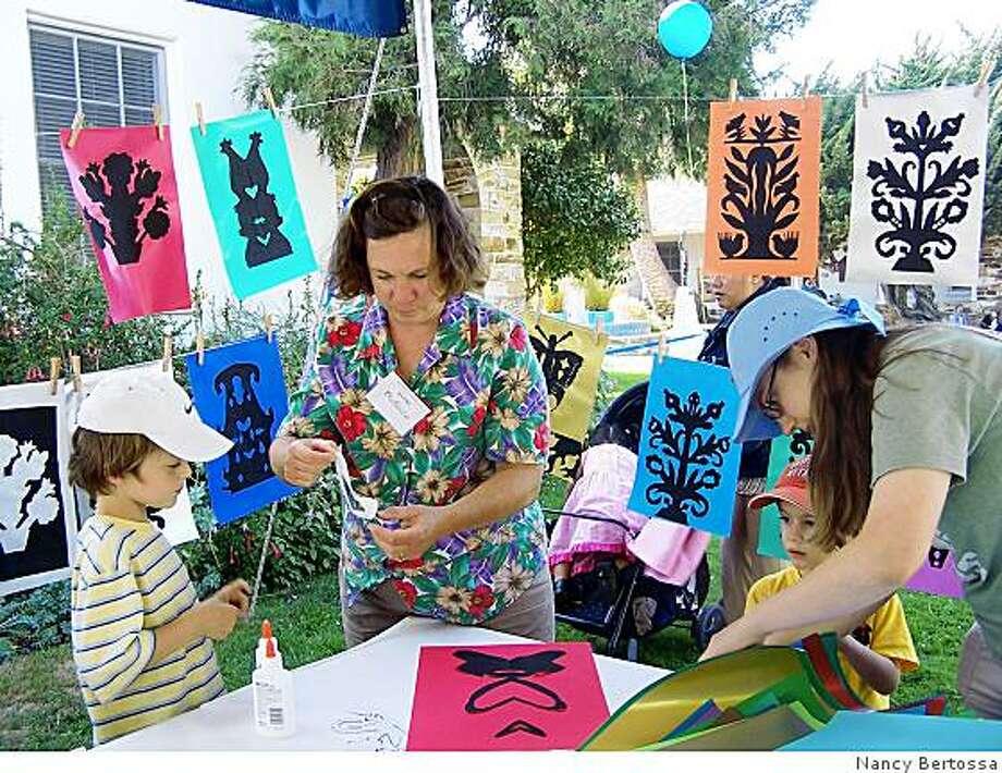 Creativity Tent for kids at the Cabrillo Festival of Contemporary Music in Santa Cruz. Photo: Nancy Bertossa