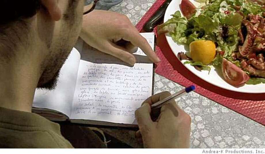"""Boris Drenec adds to a journal in Marseille, France. From the documentary """"1000 Journals"""" by Andrea Kreuzhage. Photo: Andrea-K Productions, Inc."""