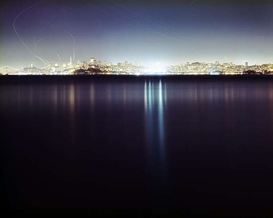 "Christina Seely's portrait of SF by night, ""Metropolis 37°46'N122°26'W (San Francisco),"" is a study in beauty and invasiveness Photo: Christina Seely"