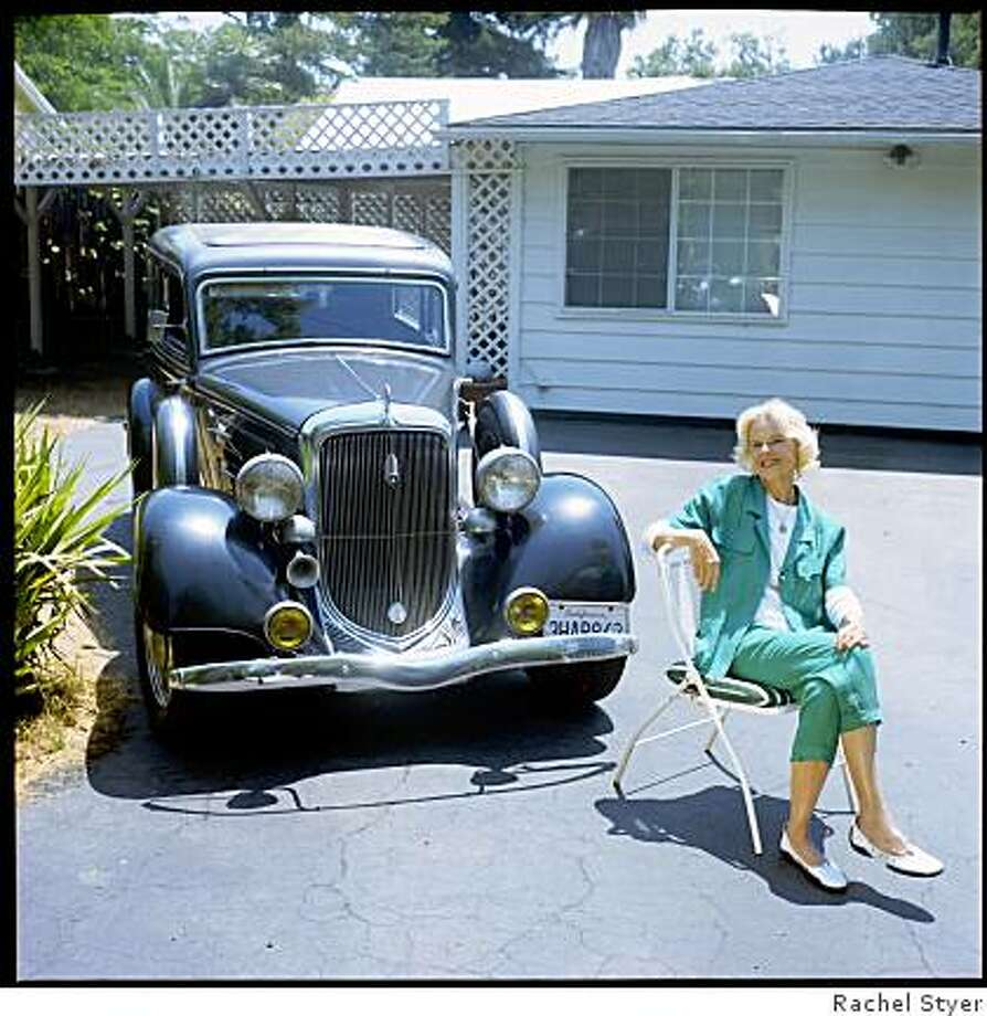"Linnea Grebmeier had some restoration work done on her 1934 Plymouth. But she hasn?t put many miles on it. ?I admire my ?art work? in the garage,"" she says. ""I never get tired of looking at her!? Photo: Rachel Styer"