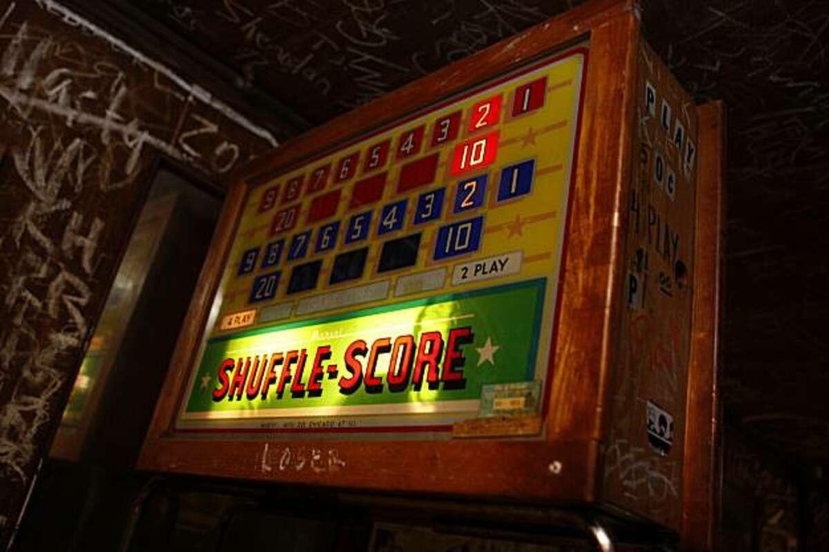 An antique scoreboard at the Kingfish Pub & Cafe Oakland, Ca., on Thursday, January 7, 2010.