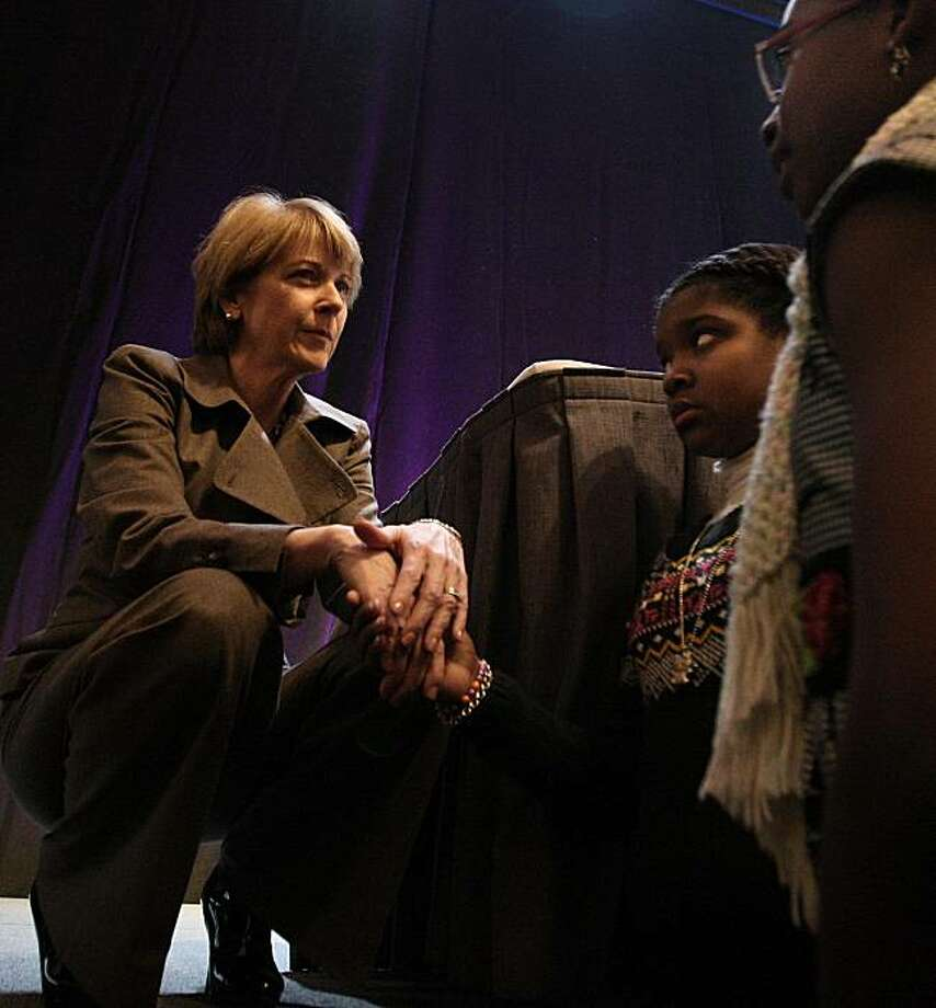 Martha Coakley, the Democratic candidate to fill Edward M. Kennedy's Senate seat, at the 40th annual Martin Luther Kingh Jr. memorial breakfast in Boston,Monday, Jan. 18, 2010.  Voters head to the polls on Tuesday, Jan. 19th, in a special election. (Essdras M Suarez/ The Boston Globe) - NO SALES - Photo: Essdras M Suarez, NYT