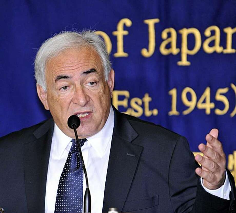 International Monetary Fund (IMF) Managing Director Dominique Strauss-Kahn speaks before the press in Tokyo on January 18, 2010. Strauss-Kahn is here to exchange views with Japanese leaders. Photo: Yoshikazu Tsuno, AFP/Getty Images