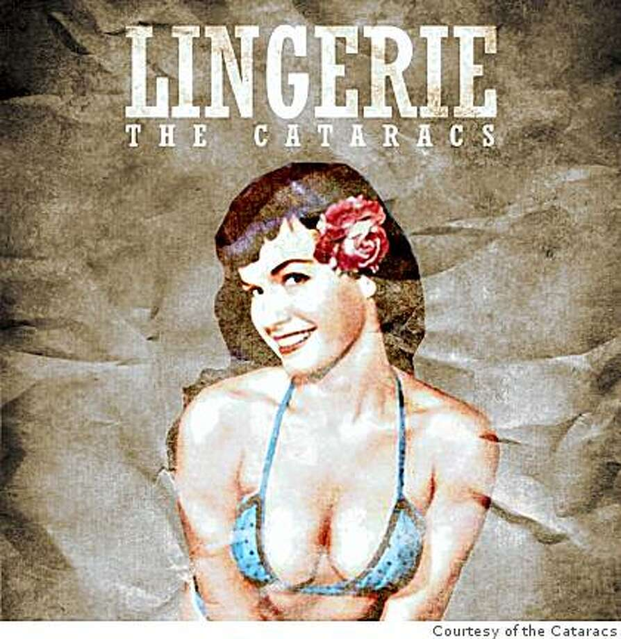 CD cover for the Cataracs' Lingerie. Cyrano (Miles Hollowell-Dhar) and Campa (David Singer-Vine) are The Cataracs. Photo: Courtesy Of The Cataracs