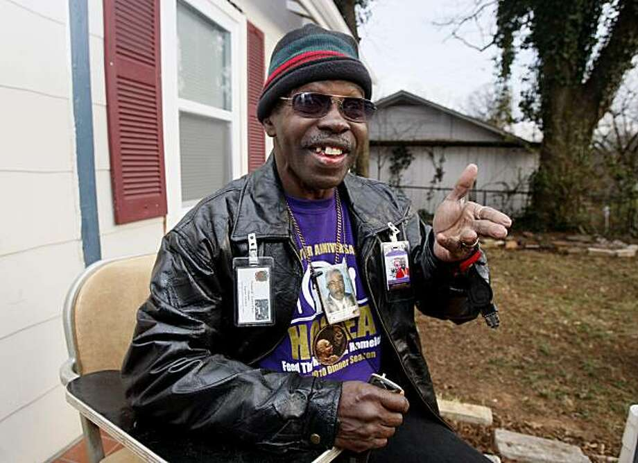 "Larry Platt performs his rap ""Pants on the Ground""  outside his home in Atlanta, Thursday,, Jan. 14, 2010 in Atlanta. Platt performed the song during an audition for American Idol. Photo: John Bazemore, AP"
