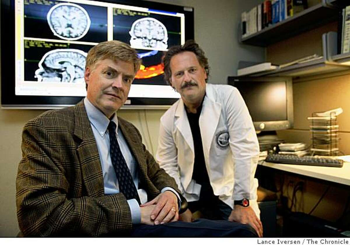 UCSF Dr Tom Neylan psychiatrist and UCSF senior scientist Norbert Schuff right teamed up at San Francisco V.A. Medical Center to research brain trauma and Post-Traumatic Stress Disorder. The center has now emerged as a leader in brain research on Iraq and Afghanistan war veterans. Photographed in San Francisco, Wednesday July 23, 2008. Photo by Lance Iversen / The Chronicle