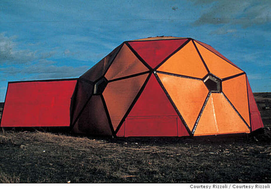 Image from Spaced Out: Crash Pads, Hippie Communes, Infinity Machi nes, and other Radical environments of the Psychedelic Sixties, by Alastair Gordon (Rizzoli)Buckminster Fuller's influence was prevalent in Sixties architecture and this geodesic dome, also painted by Dean Fleming, at Drop City commune, the first hippie commune to win Fuller's Cymaxion Awardp174b Photo: Courtesy Rizzoli