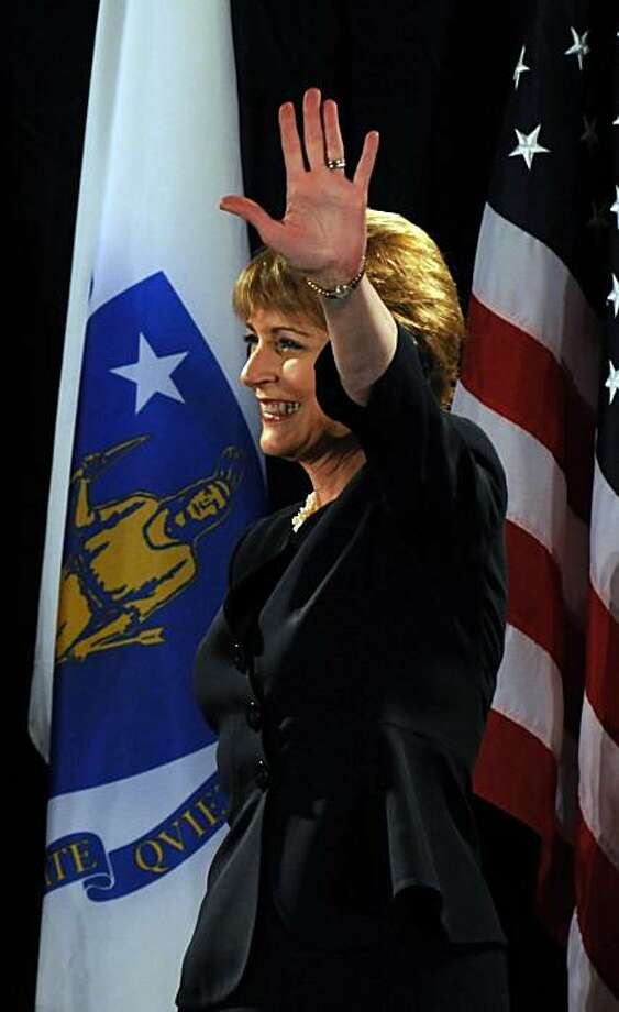 BOSTON - JANUARY 15: U.S. Senate democratic nominee Martha Coakley waves to the crowd during a rally January 15, 2010 at the Fairmont Copley Plaza Hotel in Boston, Massachusetts. The seat of the late U.S Senator Edward M. Kennedy is being hotly contestedby Republican nominee Scott Brown, forcing Democratic powerhouses like former U.S. President Bill Clinton to lend their support. Photo: Darren McCollester, Getty Images