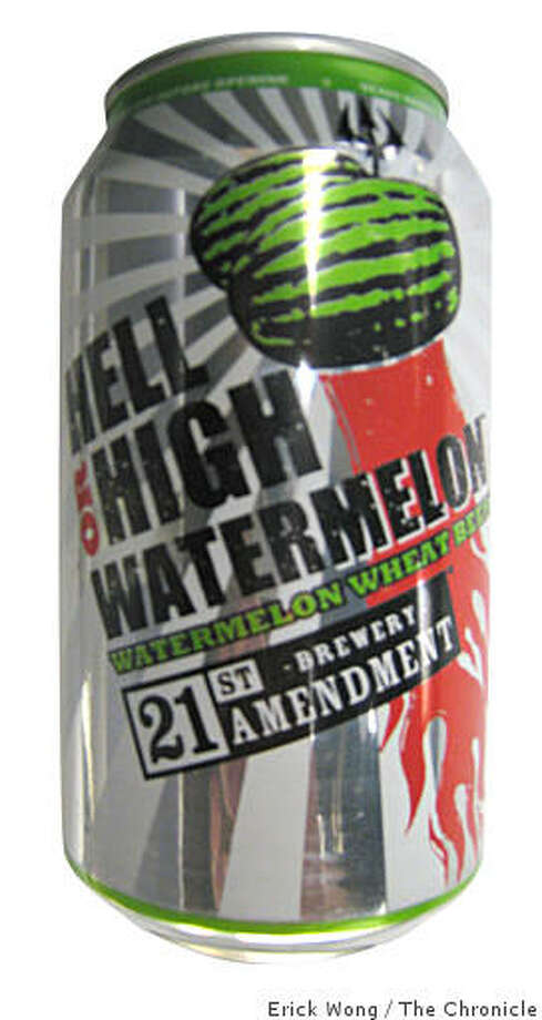 21st Amendment Brewery's Hell or High Watermelon Watermelon Wheat Beer. Photo: Erick Wong, The Chronicle