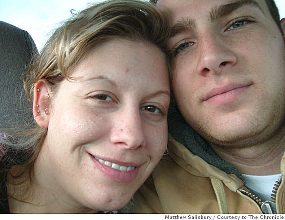 Michelle Dickson and her boyfriend Matthew Salisbury pose for a picture Dickson took with her outstretched arm. The Crescent City, California woman was killed and her body was found July 23, 2008 in Oregon. Photo: Matthew Salisbury, Courtesy To The Chronicle