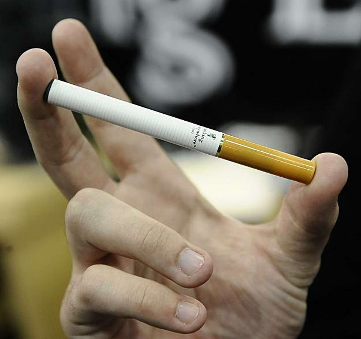 Jan 10,2010 - Las Vegas, Nevada. USA. Smoking Everywhere Electronic Cigarette on display during the last day of the 2010 CES show. (Credit Image: © Gene Blevins/LA Daily News)