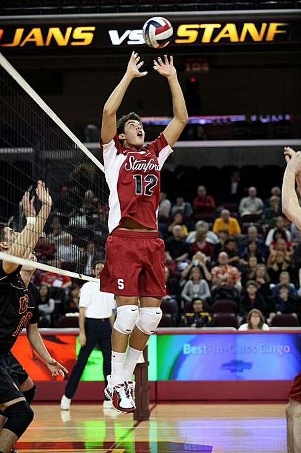 Kawika Shoji, Stanford volleyball, 2009. Photo: Stanford Athletics 2009