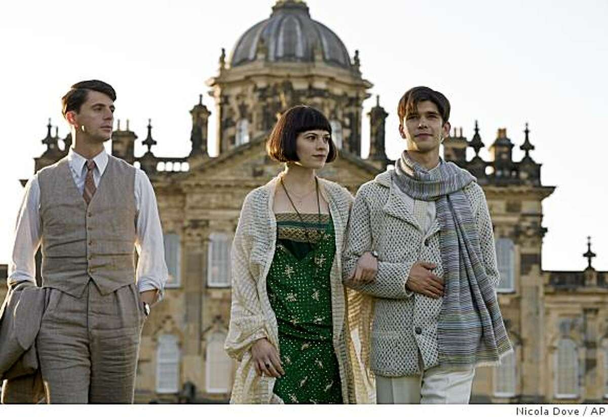 """In this image released by Miramax Films, Matthew Goode, left, Hayley Atwell, center, and Ben Whishaw are shown in a scene from, """"Brideshead Revisited."""" (AP Photo/Miramax Films, Nicola Dove) ** NO SALES **"""