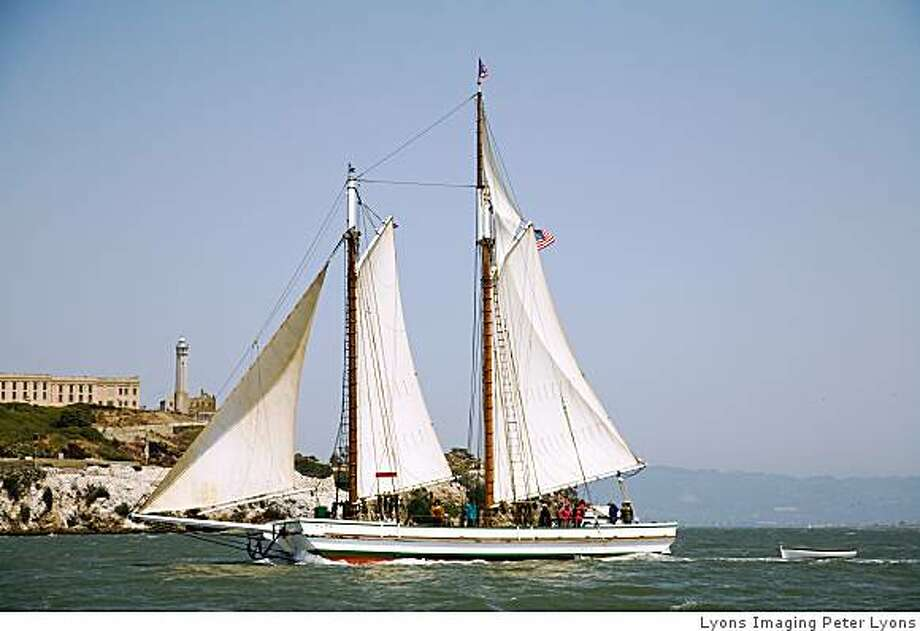 The Alma, one of the ships that is part of the Festival of Sail in SF July 24-27. Photo: Lyons Imaging Peter Lyons