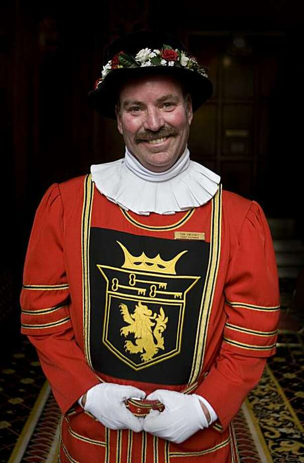 Tom Sweeney, the famed doorman in the Beefeater suit, poses for a portrait at the Sir Francis Drake Hotel in San Francisco, Calif., on Monday, Jan. 11, 2010. Photo: Adam Lau, The Chronicle