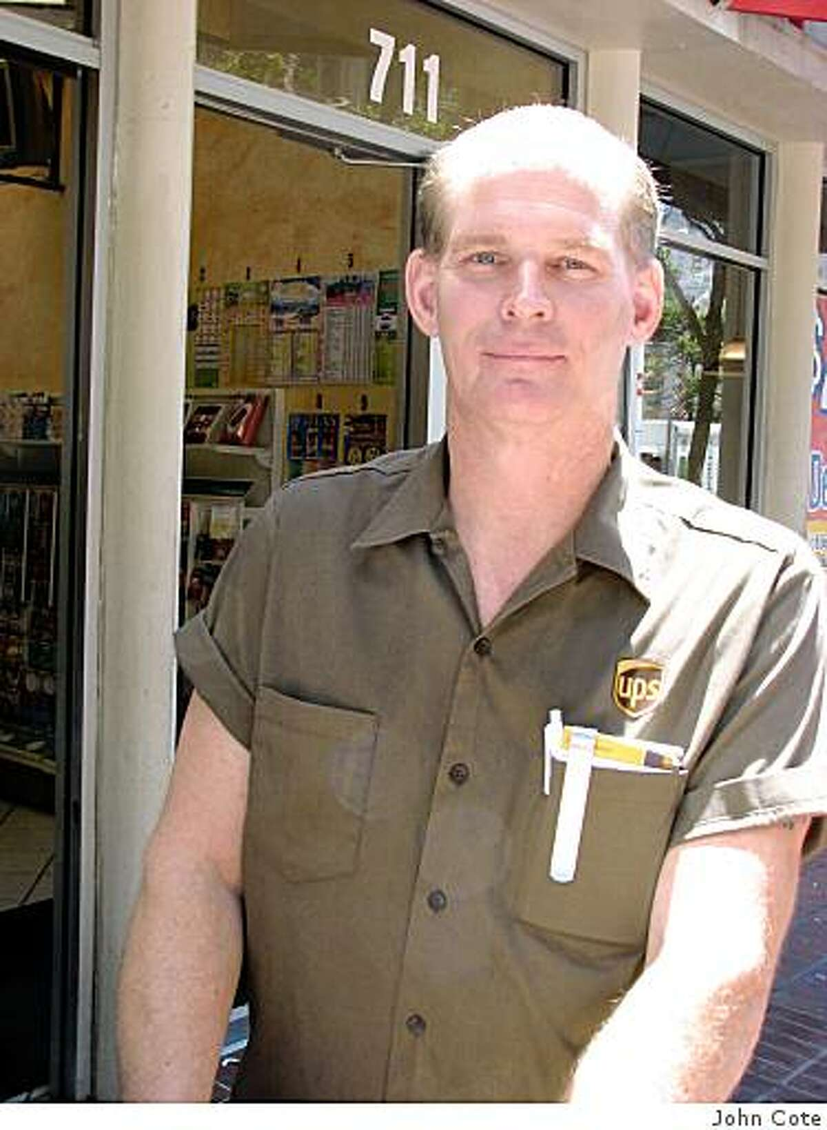 Bill Carlen, 48, of Walnut Creek is a UPS delivery driver who thinks closing a 2-mile stretch of Market Street would be disasterous if it did not include an exception for delivery drivers.