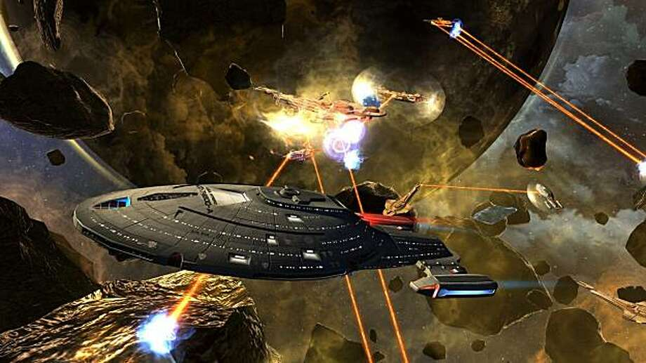 Image from MMO developer Cryptic Studios' Star Trek Online which is based on the popular series by Gene Roddenberry. Each player takes control of their starship. Photo: Cryptic Studios