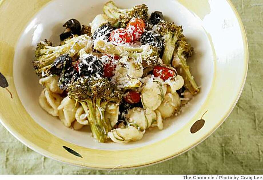 White Bean, Roasted Broccoli and Tomato Penne Salad in San Francisco, Calif., on July 17, 2008. Food styled by Cindy Lee.Photo by Craig Lee / The Chronicle Photo: Photo By Craig Lee, The Chronicle