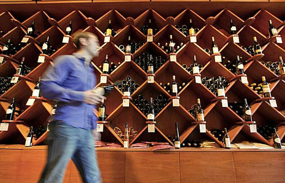 """A collection of wines from local """"Boutique"""" wineries are featured at The Winery Collective, tasting room and bar at Fisherman's Wharf in San Francisco, Ca., on Saturday December 19, 2009."""