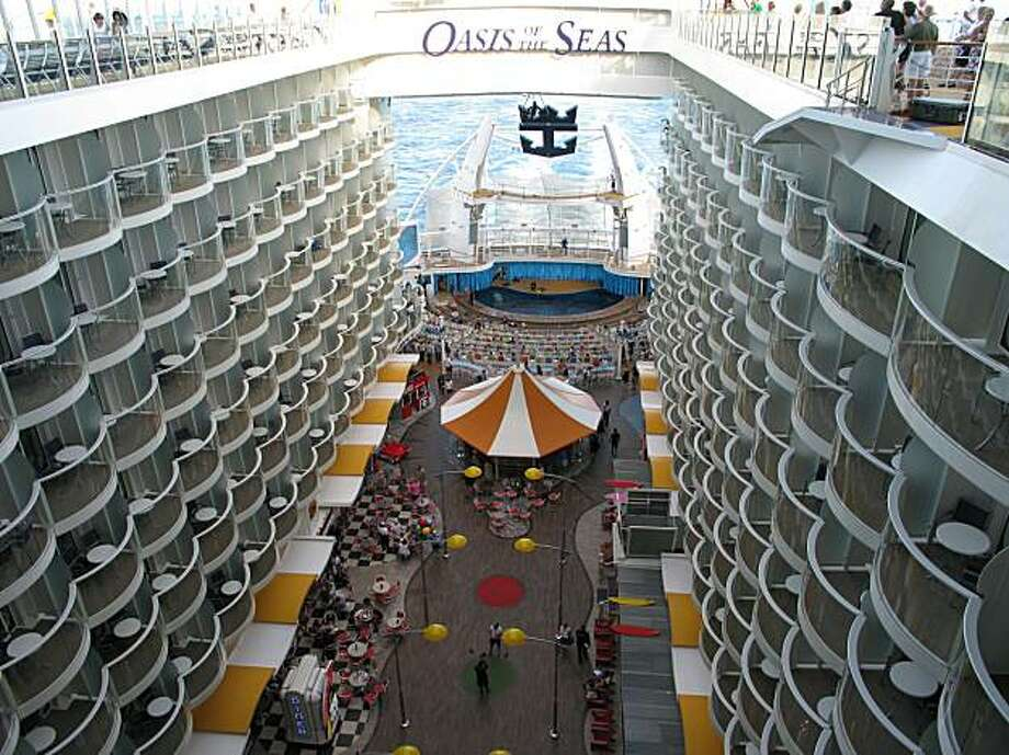 Aboard Oasis of the Seas, a Royal Caribbean ship. Photo: Spud Hilton , The Chronicle