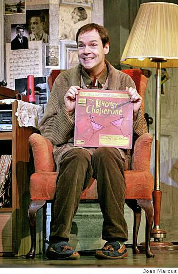 "Jonathan Crombie as The Man in the Chair in ""The Drowsy Chaperone,""  July 22- Aug.  17 at the Orpheum Theatre.Photo by Joan MarcusDrowsy Chaperone Tour Photo: Joan Marcus"