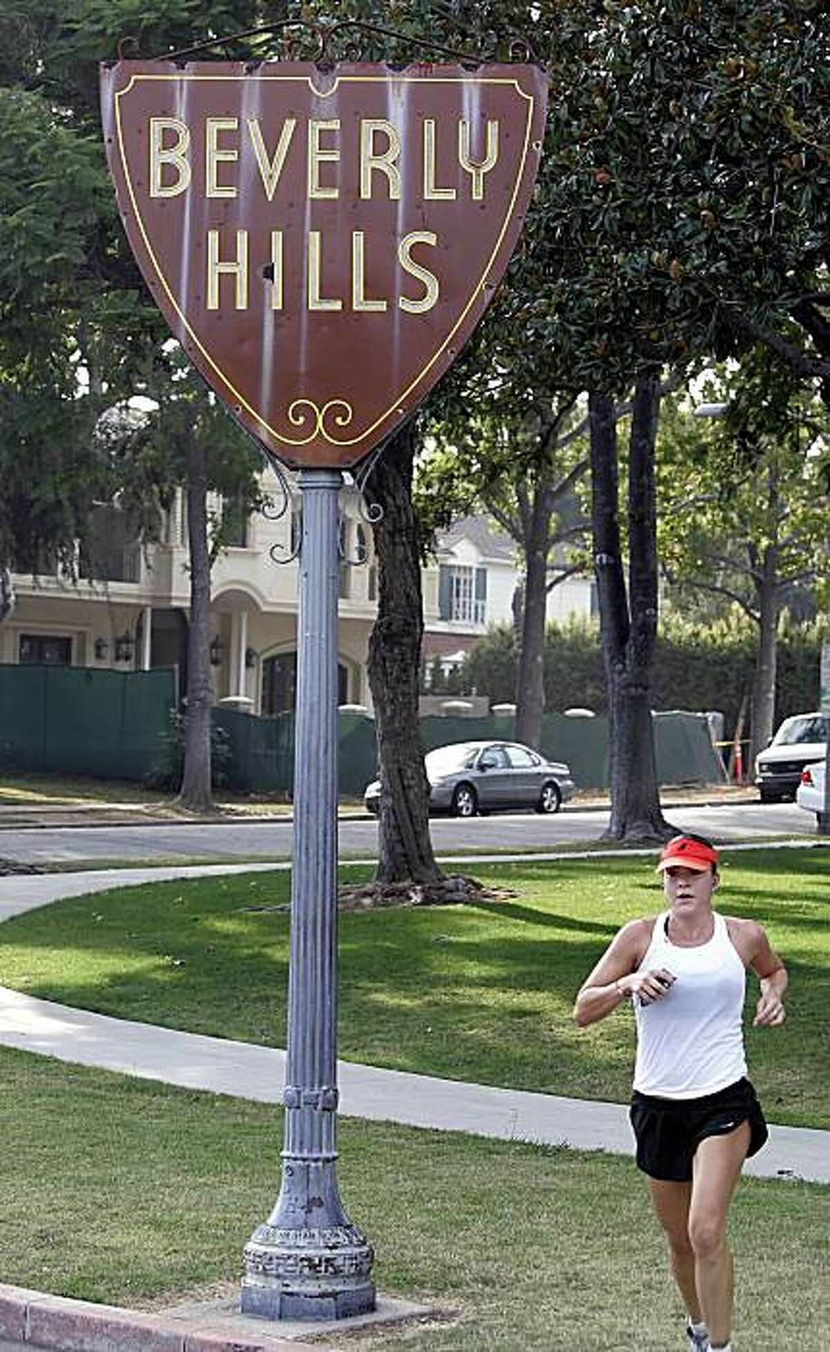 the Beverly Hills shield sign