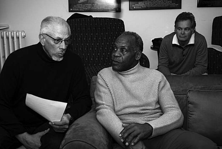 From the left, Avon Kirkland, Danny Glover and John Antonelli, the team behind the Sam Cooke documentary Photo: Leah Lau, Courtesy John Antonelli