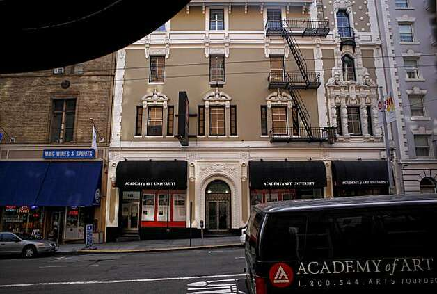 The building at 623-625 Sutter St. was turned in student housing.  The Academy of Art University is facing potential legal action from the city over dozens of building violations on many of their vast real estate holdings in San Francisco. Photo: Michael Macor, The Chronicle