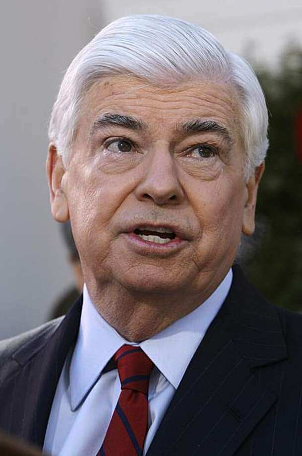 U.S. Sen. Christopher Dodd, D-CT, announces that he will retire after his current term outside his home in East Haddam, Conn., Wednesday Jan. 6, 2010.  Dodd, who served five terms, is chairman of the Senate Banking Committee and made an unsuccessful bid for the presidency in 2008. Photo: Charles Krupa, AP