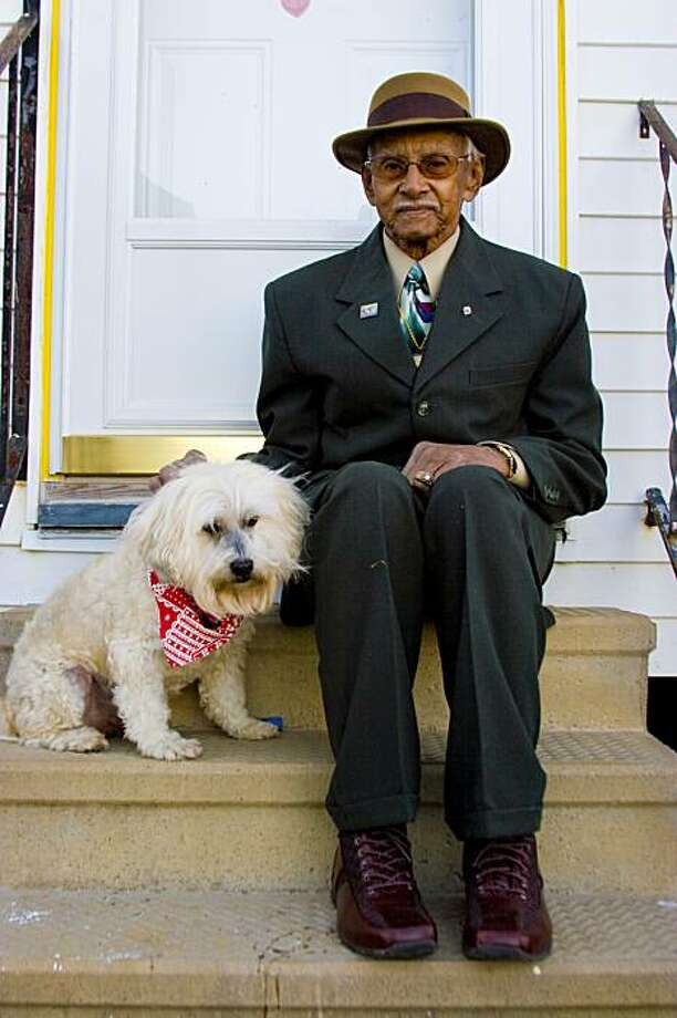 "Malvin Cavalier and his faithful companion, Bandit, in the aftermath of Hurricane Katrina in Geralyn Pezanoski's documentary film, ""Mine."" Photo: Courtesy, Zack Smith"