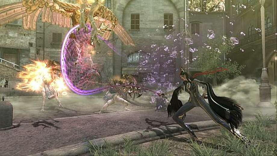 Bayonetta is an action game by the well-known Japanese game designer Hideki Kamiya who created the Devil May Cry and Viewtiful Joe video game series. Photo: Sega Of America
