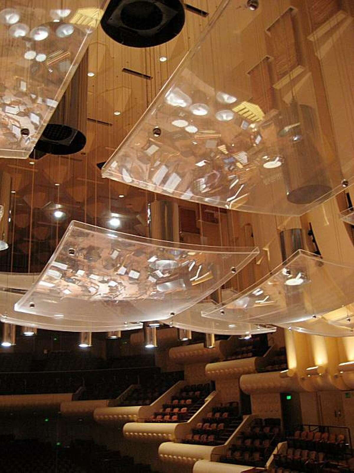 Acoustic panels in Davies Symphony Hall