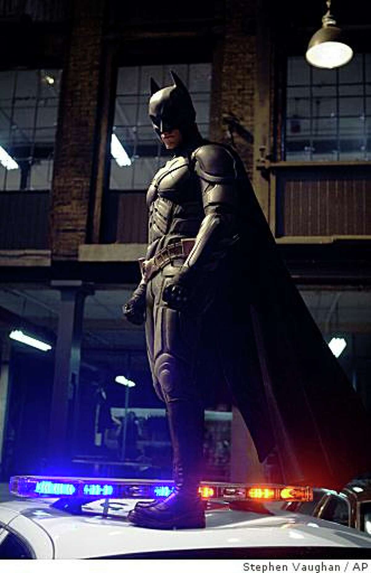 In this image released by Warner Bros., Christian Bale stars as Batman in